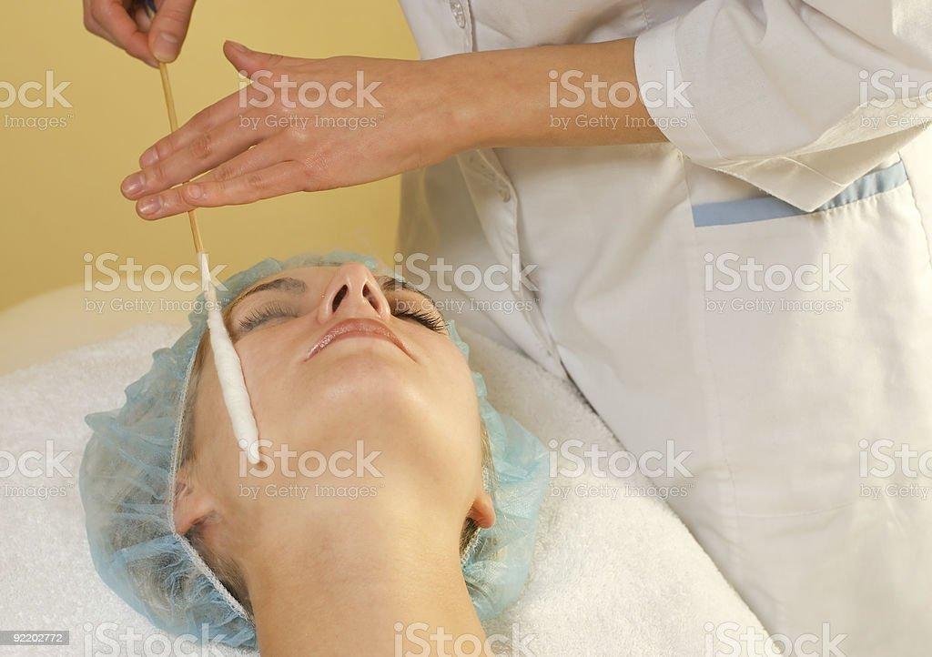 Beautiful girl in spa salon royalty-free stock photo