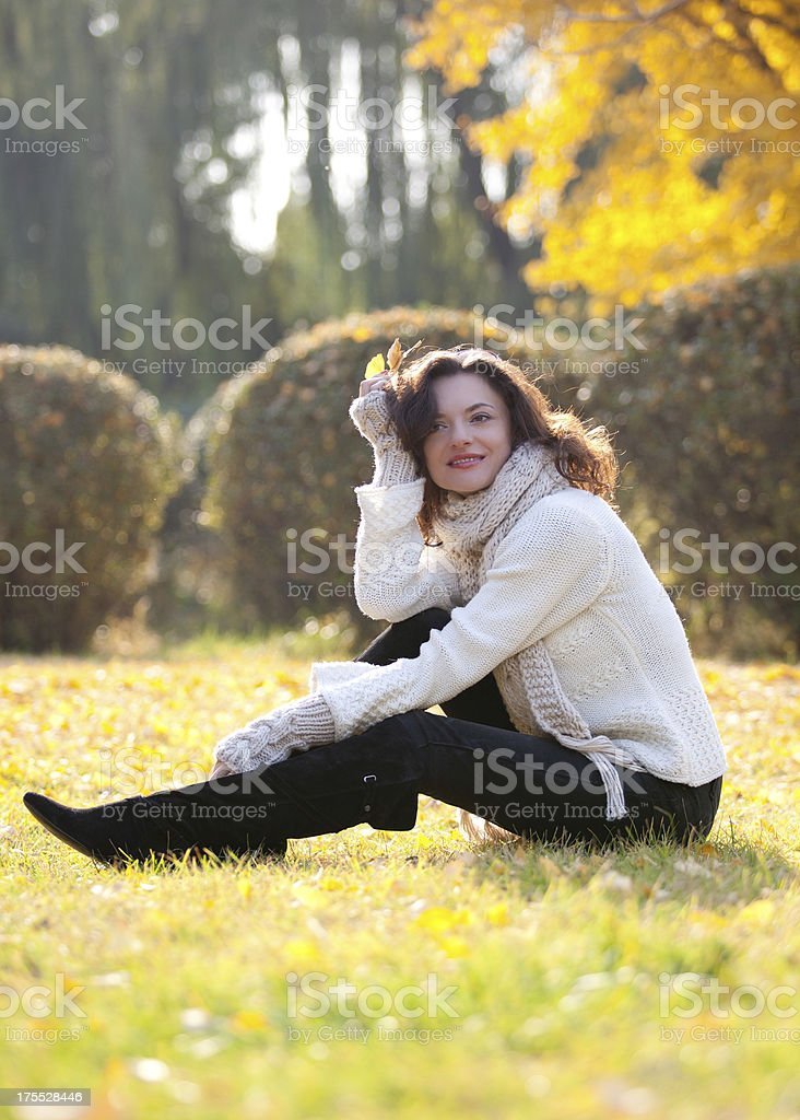 Beautiful girl in the park royalty-free stock photo