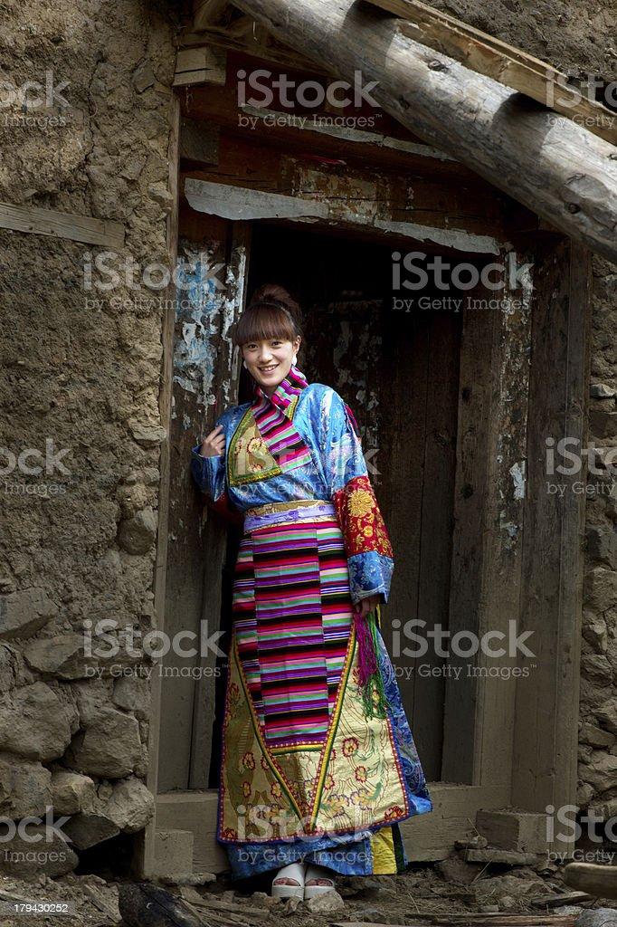 Beautiful girl in Tibet royalty-free stock photo
