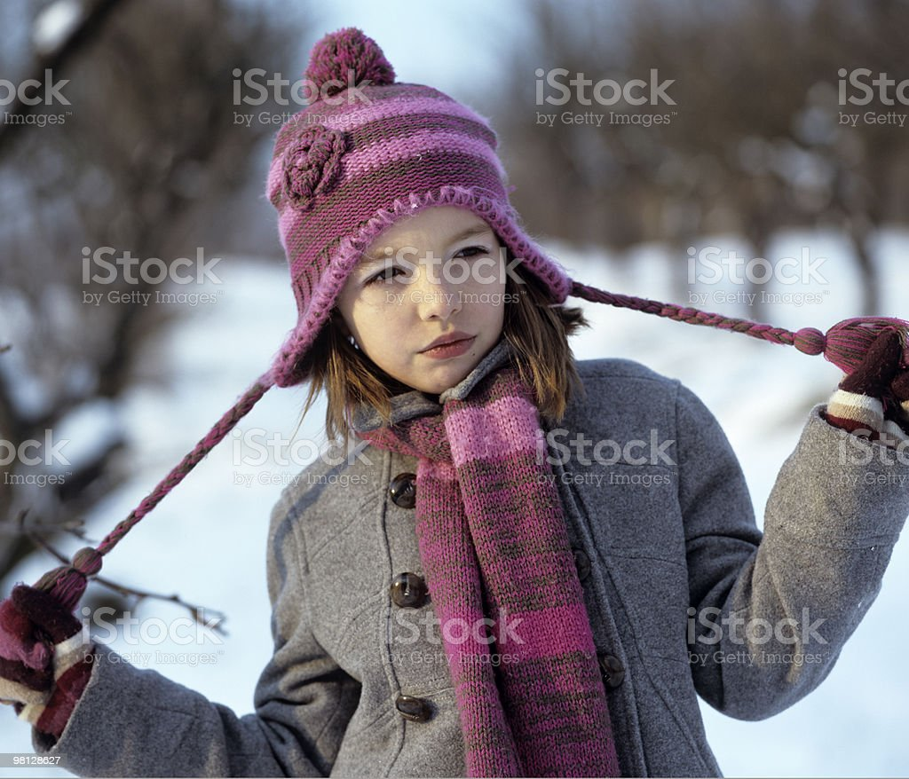 beautiful girl in winter royalty-free stock photo