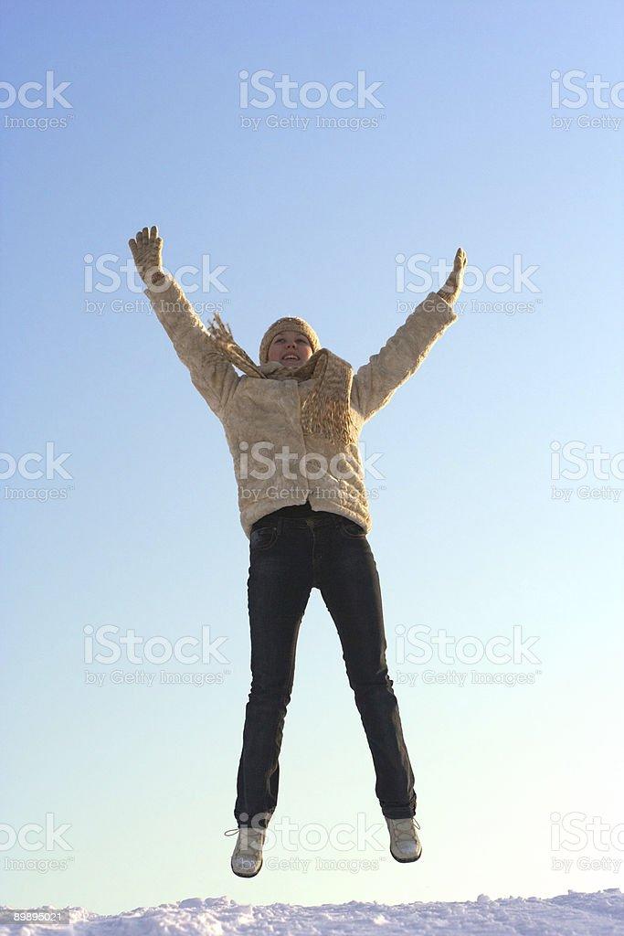Beautiful girl jump royalty-free stock photo