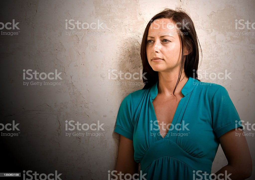Beautiful girl looking away royalty-free stock photo