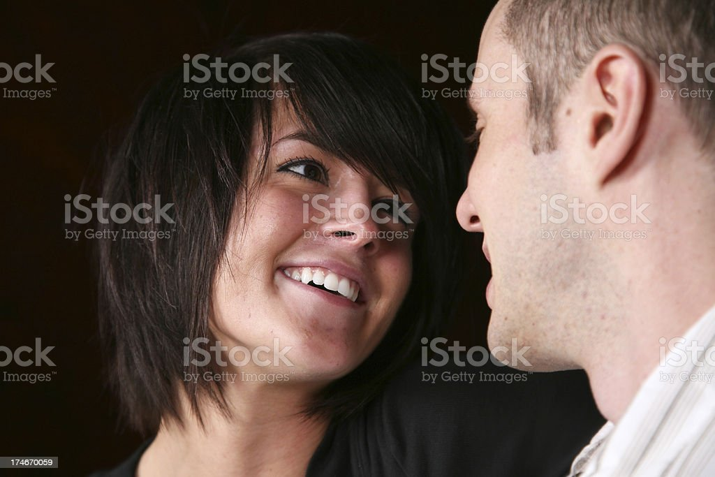 Beautiful Girl Loving Her Man royalty-free stock photo