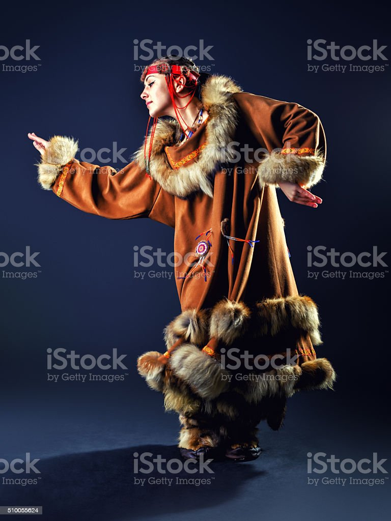 Beautiful girl of the North stock photo