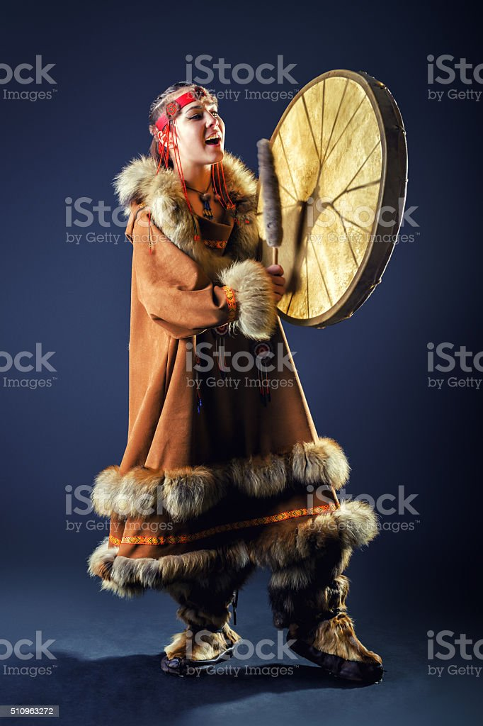Beautiful girl of the North. stock photo