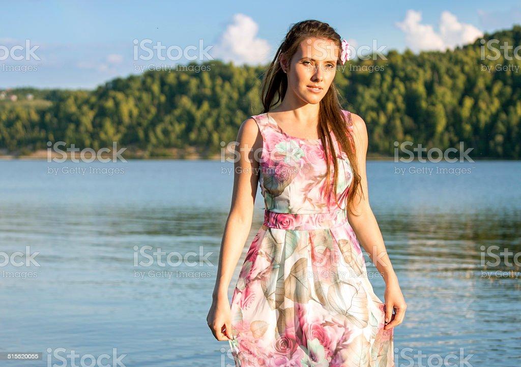 Девушка В Речке