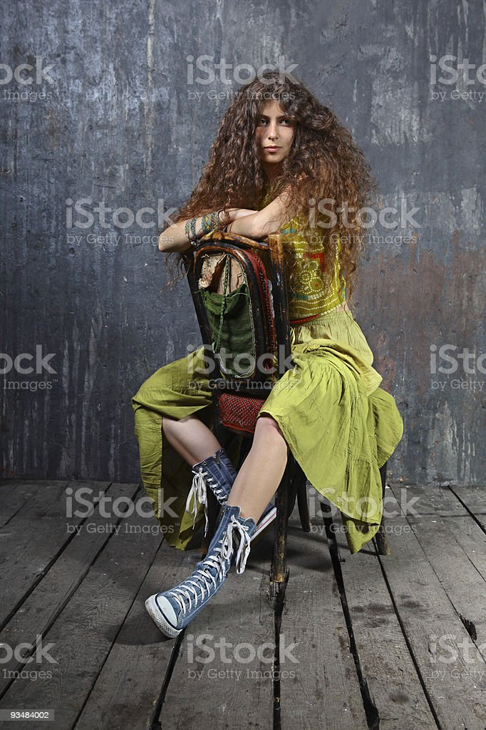 아름다운 소녀 - 로열티 프리 고독-부정적인 감정 표현 스톡 사진