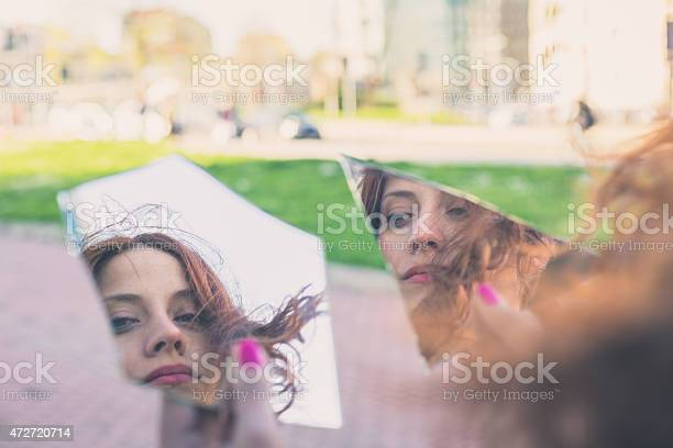 Beautiful Girl Posing In The City Streets Stock Photo - Download Image Now