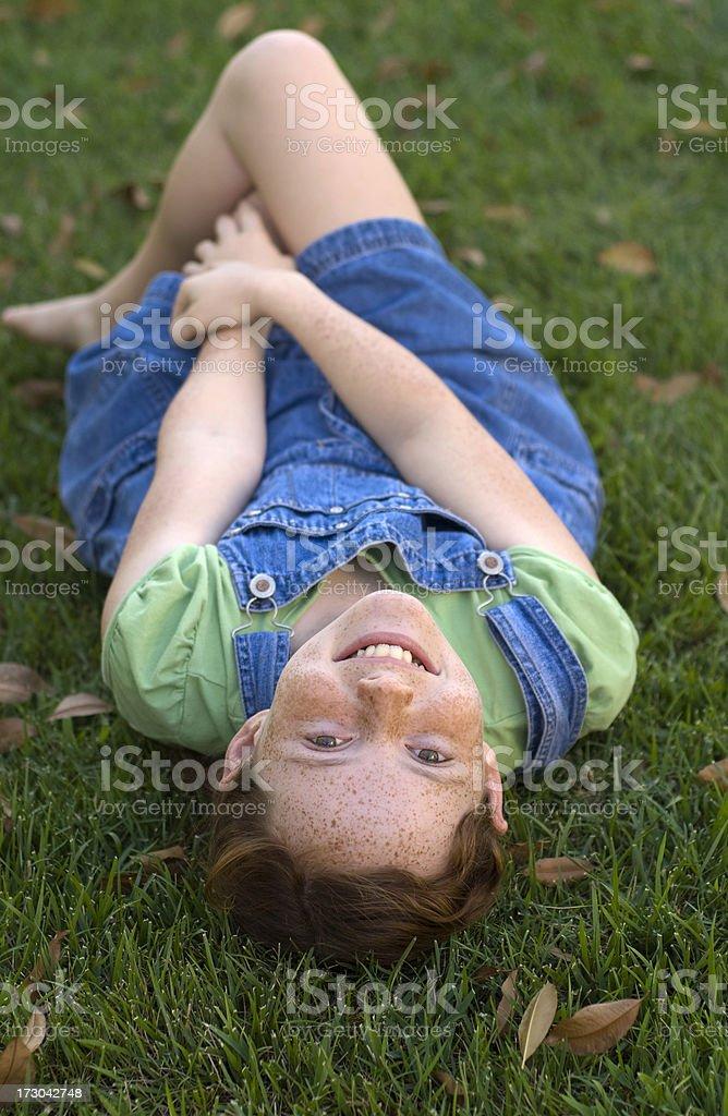 Beautiful Girl Relaxing stock photo
