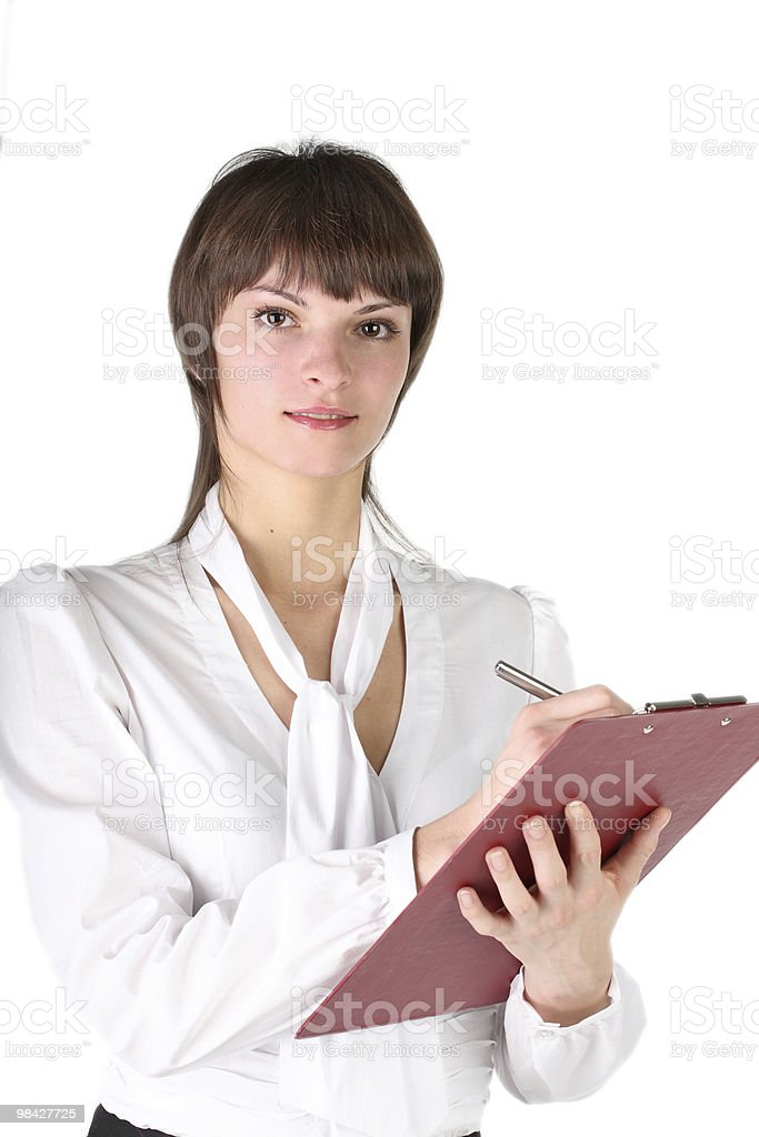 beautiful girl -  secretary royalty-free stock photo