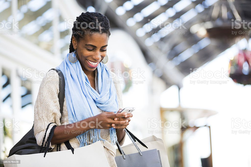 Beautiful Girl Shopping stock photo