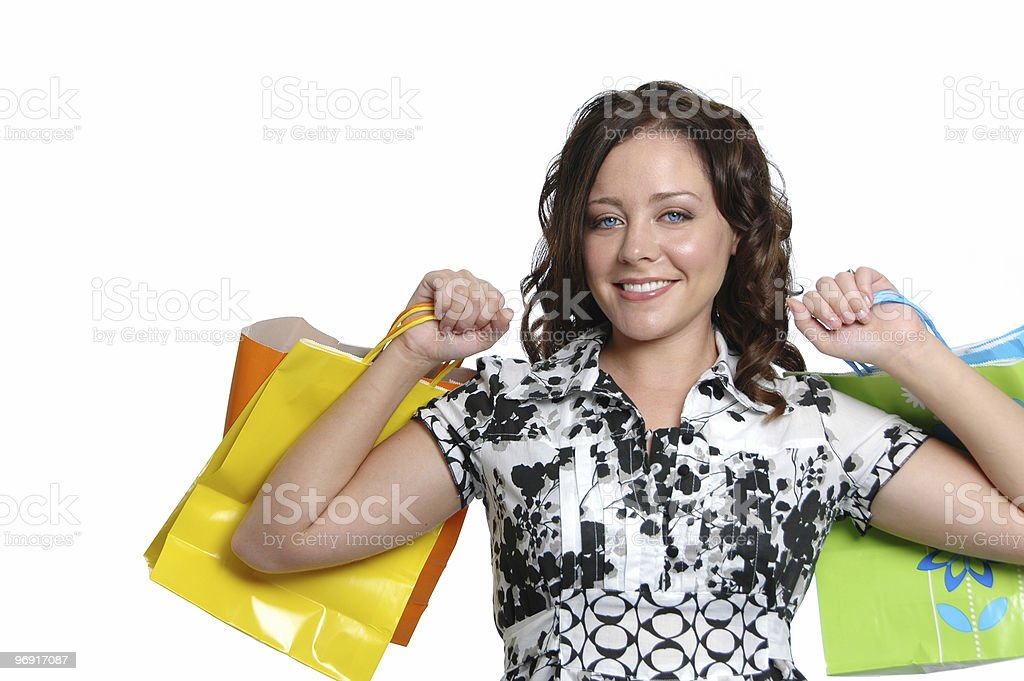Beautiful girl shopping royalty-free stock photo
