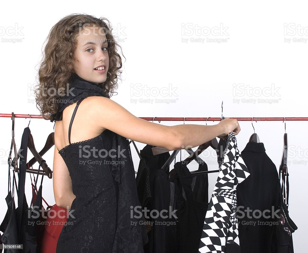 Beautiful girl shopping royalty-free stock photo