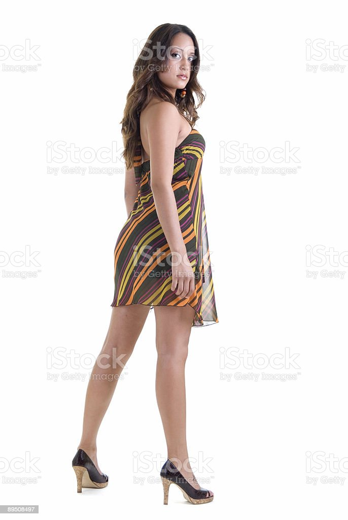 Beautiful Girl standing royalty-free stock photo