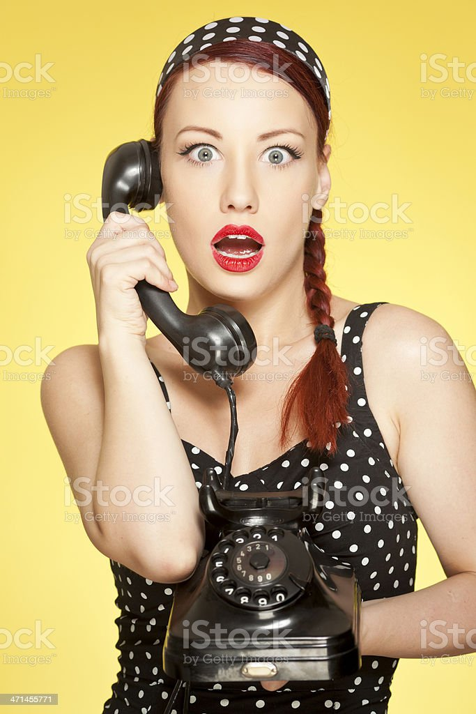 Beautiful girl talking on the phone royalty-free stock photo
