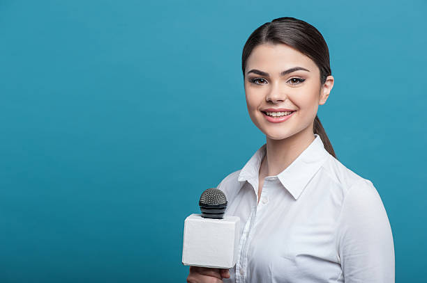 Best Female News Anchor Stock Photos, Pictures & Royalty