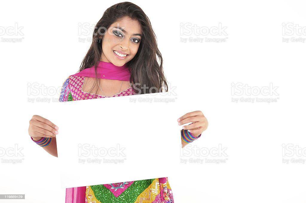 Beautiful girl wearing indian ethnic dress royalty-free stock photo
