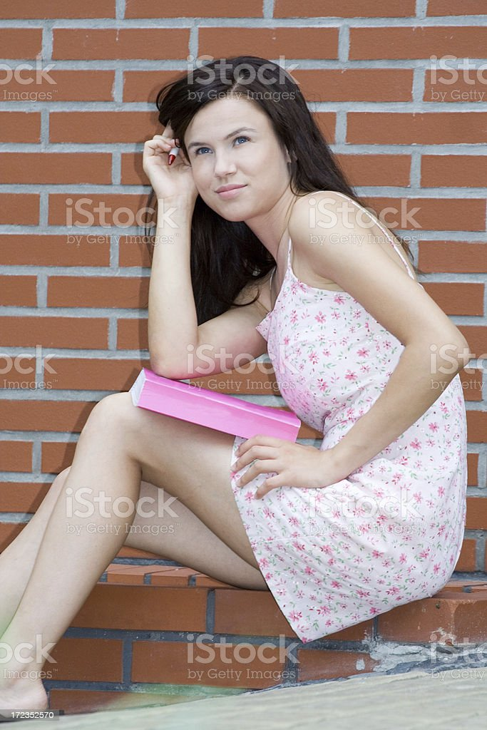 Beautiful girl with a book royalty-free stock photo