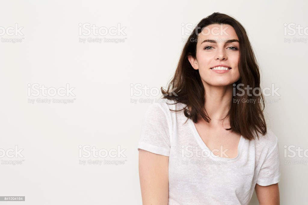 Beautiful girl with beautiful smile stock photo