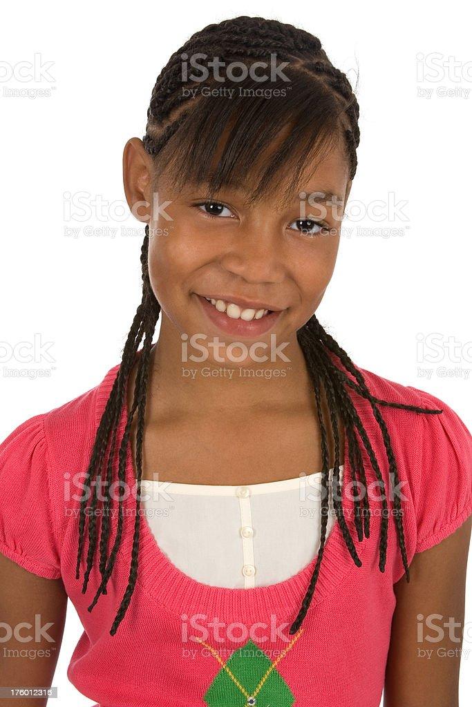 Beautiful girl with braids royalty-free stock photo