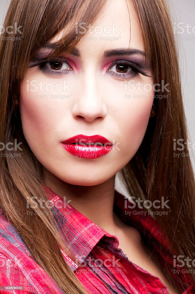 Beautiful girl with eyelash extensions royalty-free stock photo