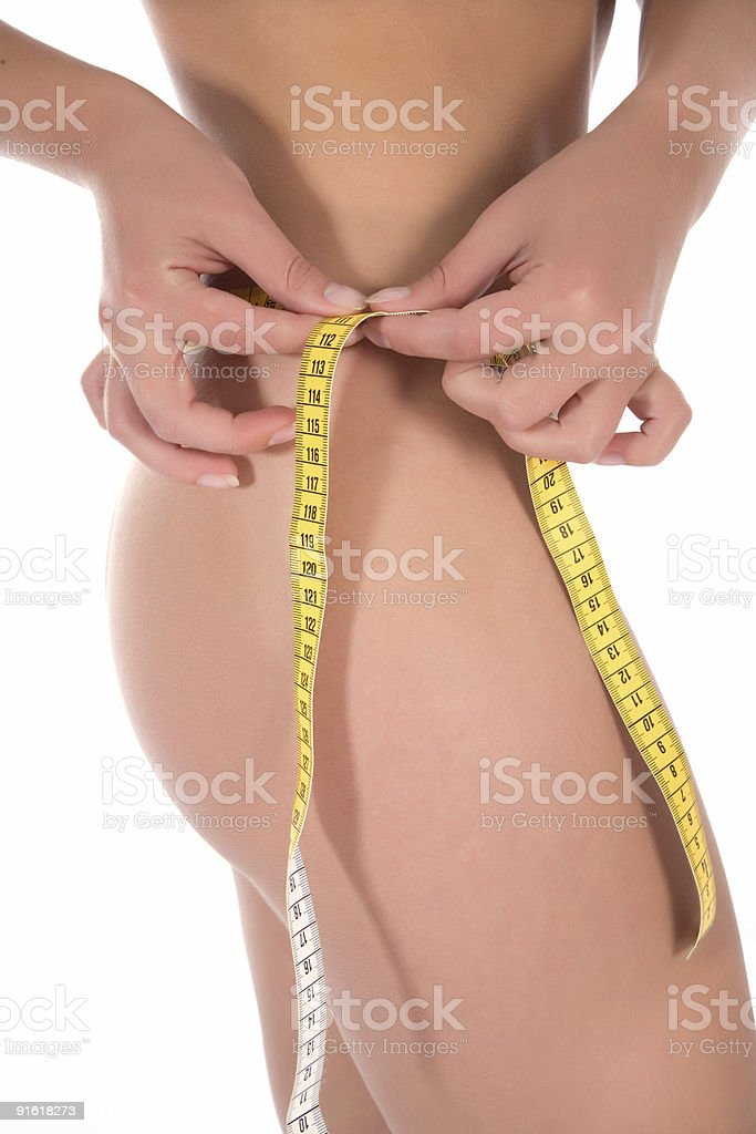 beautiful girl with  meter royalty-free stock photo