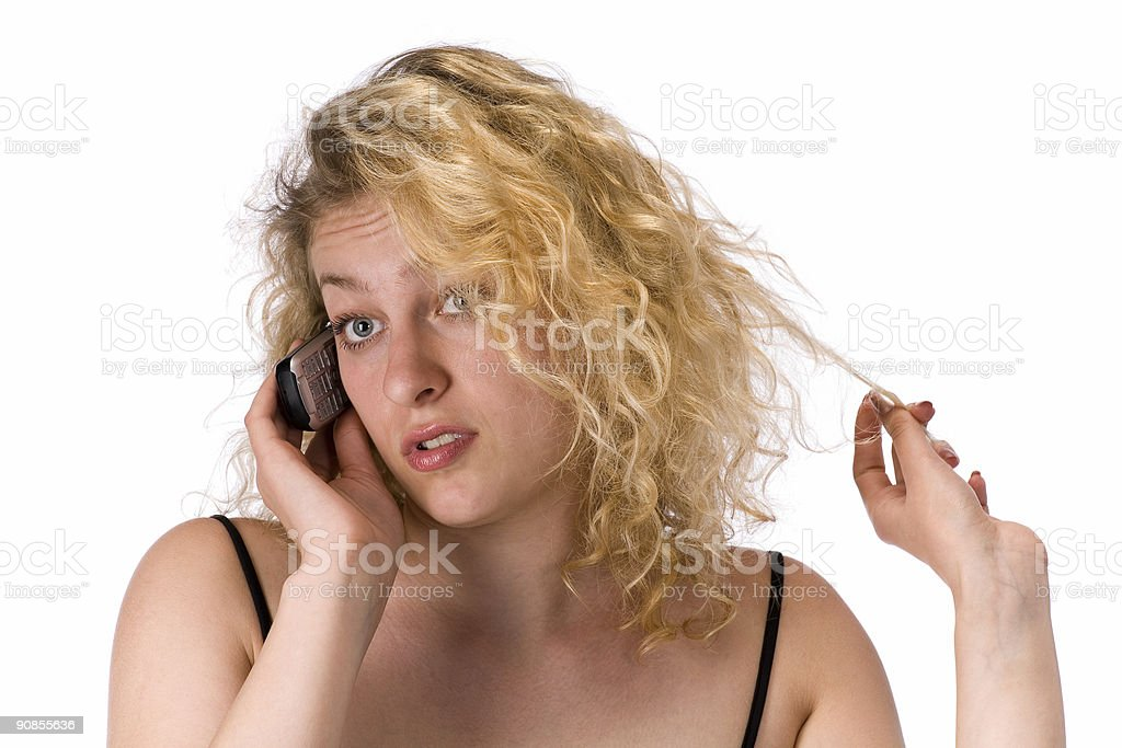 beautiful girl  with mobile phone royalty-free stock photo