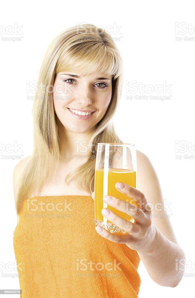 Beautiful girl with orange juice royalty-free stock photo