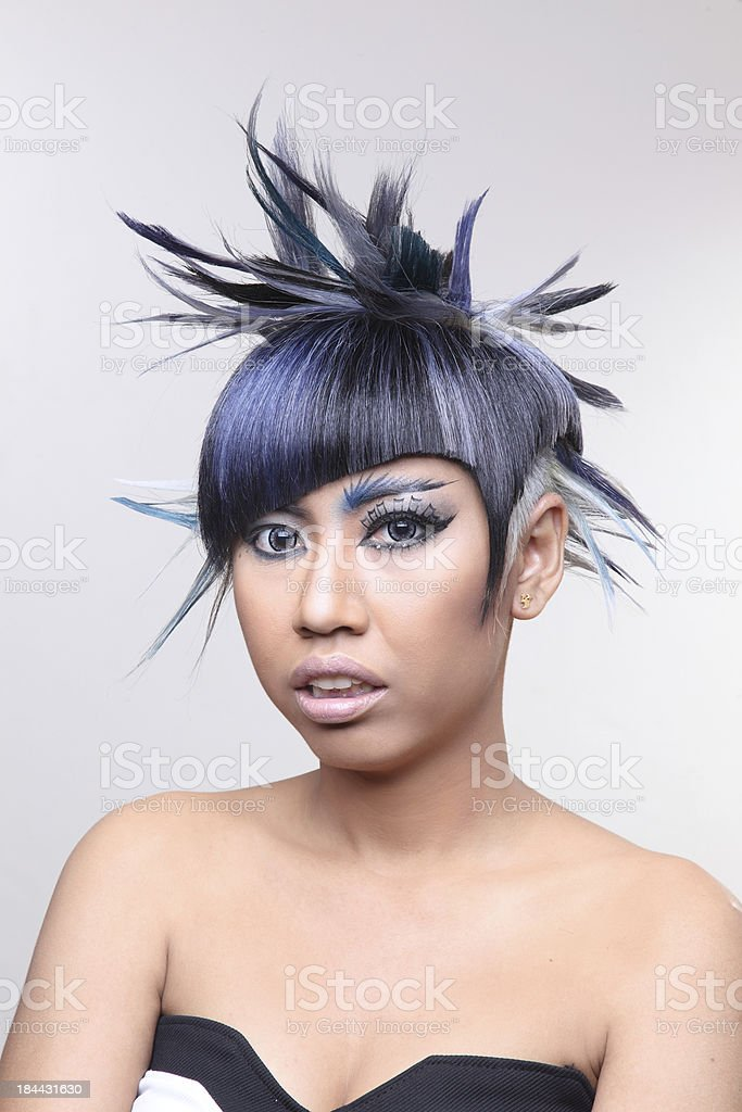 beautiful girl with  professional hair coloring royalty-free stock photo