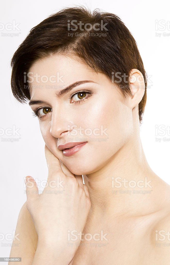beautiful girl with short hair royalty-free stock photo