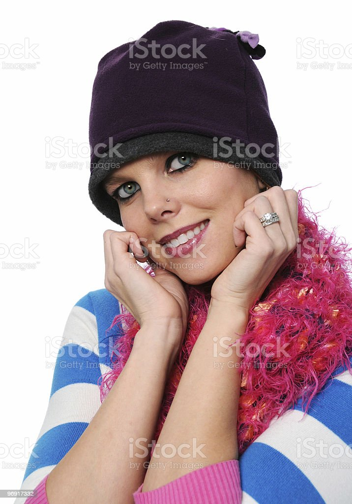 Beautiful girl with winter hat royalty-free stock photo