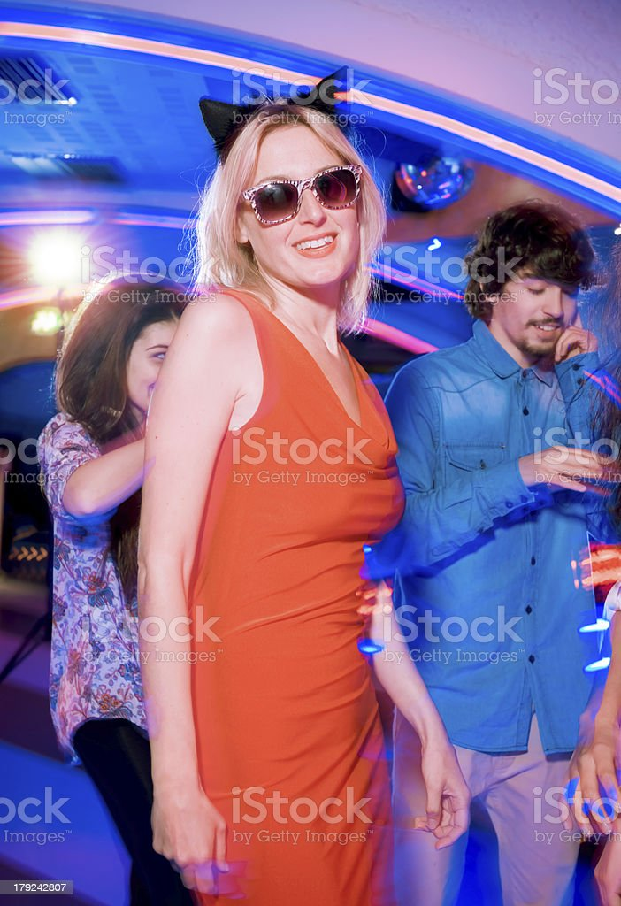 Beautiful girls dancing at the Party royalty-free stock photo