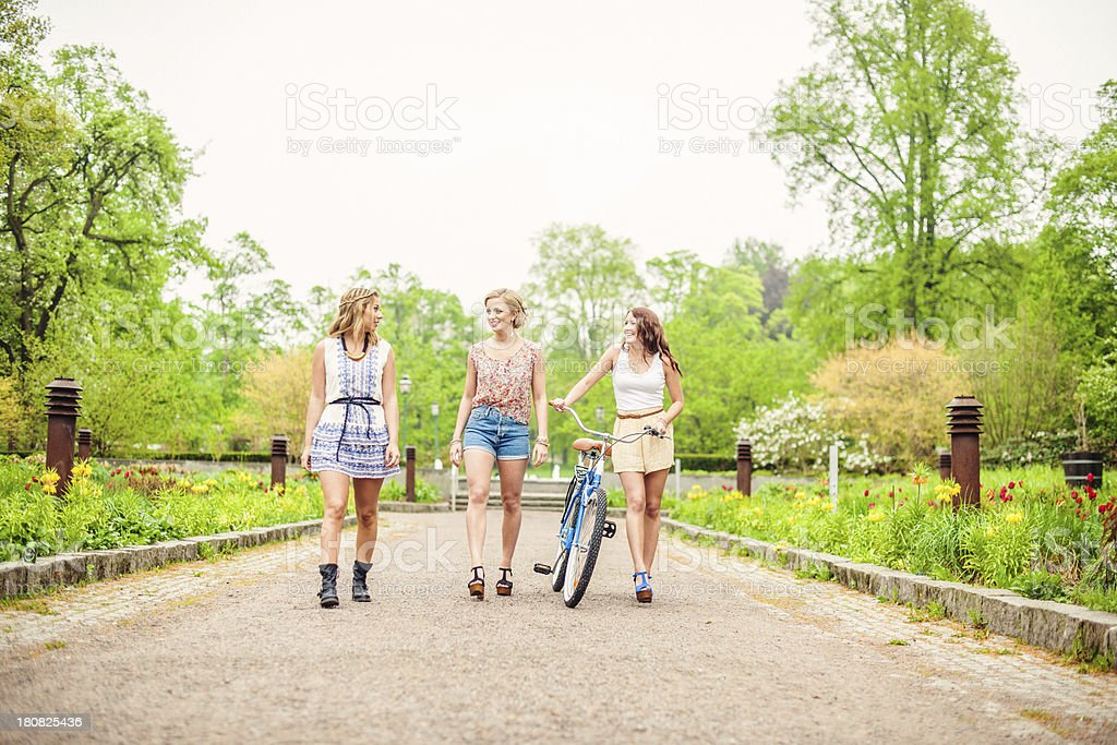Beautiful girls out in summer royalty-free stock photo