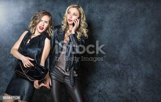 istock Beautiful girls posing in the Studio 935847136