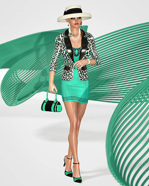schöne glamouröse und elegante dame - moderne 50er jahre mode stock-fotos und bilder