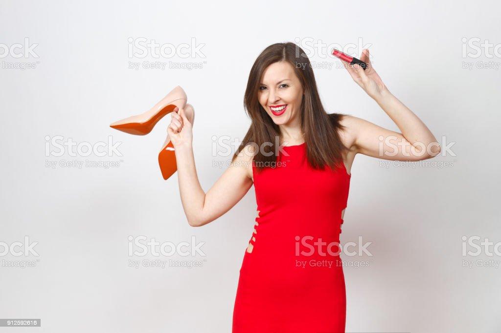 Hermosas Glamour Moda Joven Pelo Marrón Mujer Caucásica En