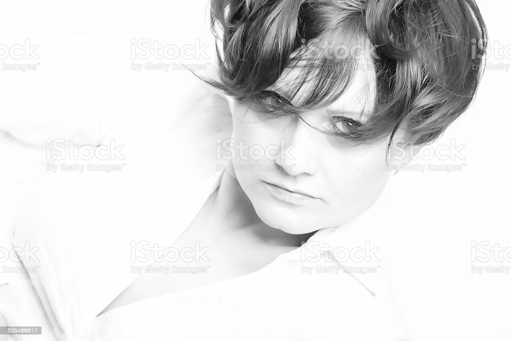 beautiful glamour portrait royalty-free stock photo