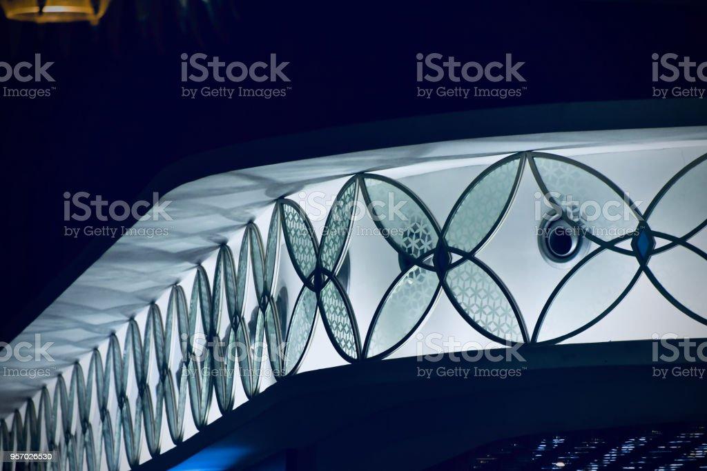 Beautiful glass made interior design unique photo stock photo