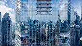 istock Beautiful glass windows of high buildings 945944620