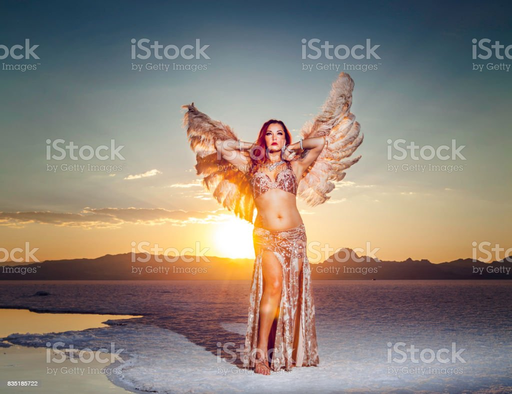 Beautiful Goddess Belly Dancer Portrait stock photo