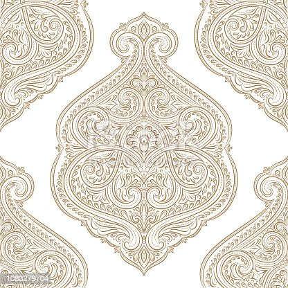istock Beautiful gold and white floral seamless pattern. Vintage vector, paisley elements. Traditional, Turkish, Indian motifs. Great for fabric and textile, wallpaper, packaging or any desired idea. 1083279704