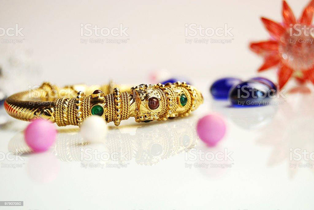 Beautiful Gold Bangle!!! royalty-free stock photo