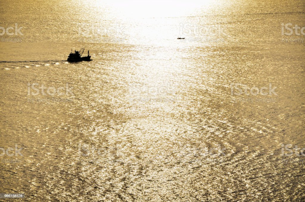 Schöne goldene Sonne Licht auf hoher See - Lizenzfrei Abstrakt Stock-Foto