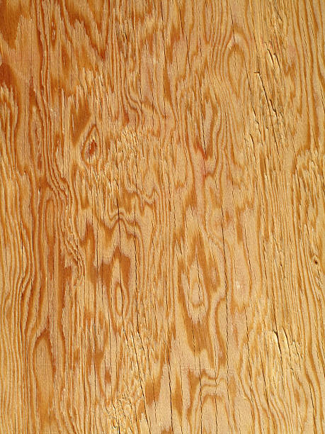 beautiful golden brown plywood floor background - triplex stockfoto's en -beelden