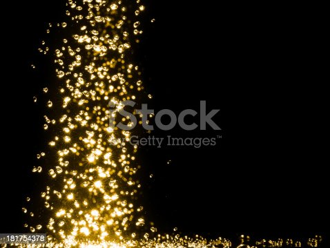 istock Beautiful golden bubbles. 181754378