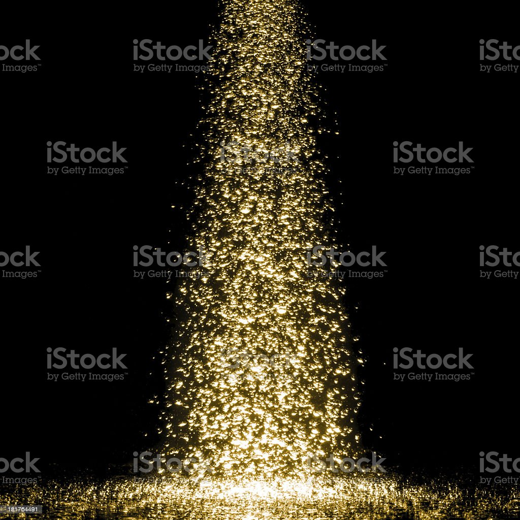Beautiful golden bubbles. royalty-free stock photo