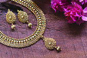 Beautiful Golden pair of earrings, Luxury female jewelry, Indian traditional jewellery,indian jewellery Bridal Gold earrings wedding jewellery