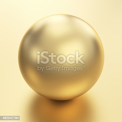 istock Beautiful golden sphere 492042184