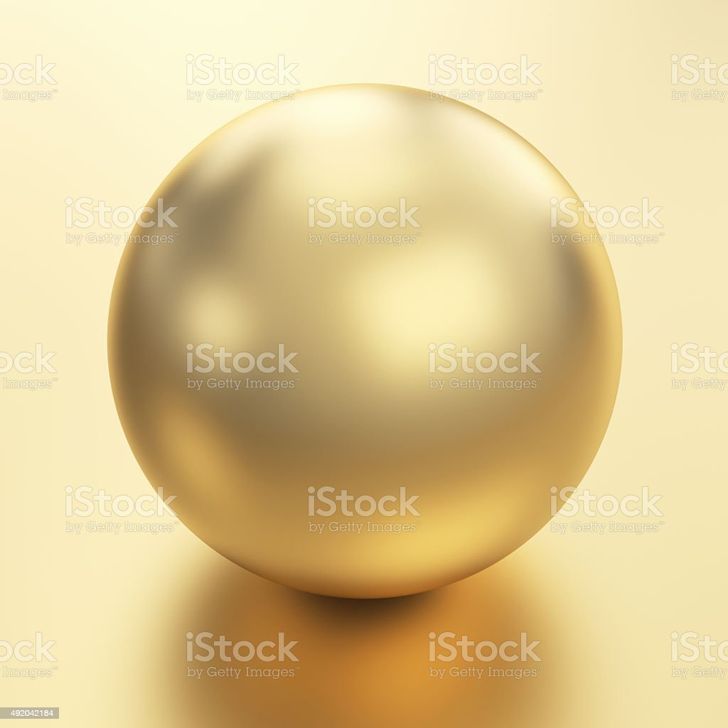 Beautiful golden sphere stock photo