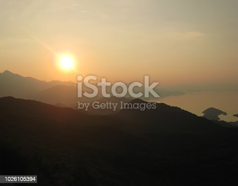 Beautiful Golden Sunset in the Mountains